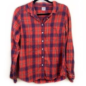 J Crew The Perfect Shirt Plaid Button Down Flannel